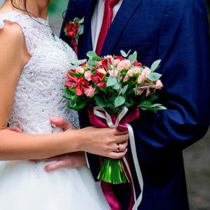 detalle de flores de novia